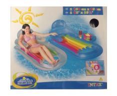 Intex 58800 Poltrona Gonfiabile Relax Mare con Mini Bar Lounge