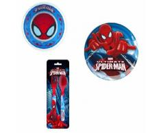 BBS Set Spiderman Ultimate - Piatto 20 cm + Scodella 14 cm + Posate
