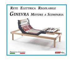Rete Elettrica Regolabile Ginevra con Motore a Scomparsa a Doghe di Legno da Cm. 80x190/195/200 Prodotto Italiano