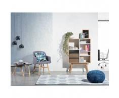 beliani Libreria armadio moderno bianco e marrone - WRANGELL