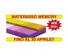 Goldflex - Materasso MEMORY Matrimoniale 85x190 2 strati di portanza differenziata a 7 Zone, autoadattante, con rivestimento sfoderabile anallergico e ANTIACARO con silver antibatterico