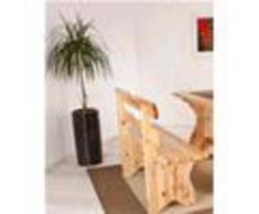 Arredamento bar - Panca modello rustico - mod. 005p15 - struttura in legno - finiture legno in anilina beige, pino naturale, ciliegio e noce - spessore materiale mm 31 finitura opaca - per uso interno - quantita' minima acquistabile n. 1 - dim. cm l 1