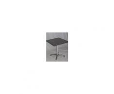 Alluminio W - Tavolo con gamba centrale in alluminio e piano in werzalit 60x60,70x70diam.60,70cm esterno bar