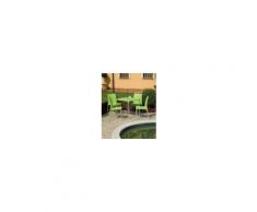 BOULEVARD - Tavolo contract IMPILABILE quadrato 70X70 in polipropilene con Gambe in Alluminio esterno bar, pizzeria Grand Soleil