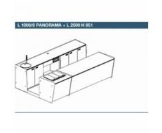 BANCO BANCONE BAR START UP LP 3500: L 1000 PANORAMA + L 2500 - [h] L1000 PANORAMA + L2500SX H951 PL 6 pozzetti, White (Bianco)