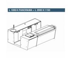 BANCO BANCONE BAR START UP LP 3000: L 1000 PANORAMA + L 2000 - [d] L1000/6 PANORAMA + L2000 H1150, White (Bianco)