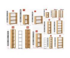 BUSINESS S - Armadio ufficio, scuola, studio, hotel, albergo, scaffali in legno - L1200/P330/H1910 Sinistra