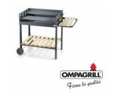 Barbecue a carbone con doppia griglia acciaio bbq grande 76 x 54 a carbonella - OMPAGRILL