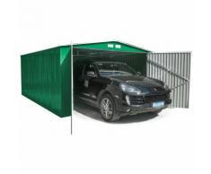 Habit Box Casetta Garage in lamiera zincata giardino esterno 380x540xh232cm GARAGE XXL