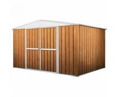 Casetta Box Da Giardino In Lamiera Legno Per Deposito Attrezzi 360x345x212cm Enaudi