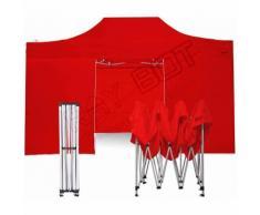 Gazebo Pieghevole 3x4,5 ROSSO RAY BOT + 4 Teli Laterali PVC 350g
