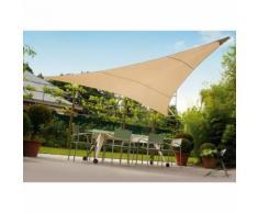 Tenda telo vela ombreggiante Triangolare Colore Ecrù Beige Dimensioni 3,6x3,6x3,6 m - LIFEGARDEN