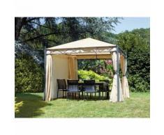 Gazebo da giardino 3 x 3 metri con tende laterali - GRUPPO MARUCCIA