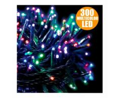 Catena Luminosa Natale 300 LED Multicolor per Interno ed Esterno Decorazioni - BAKAJI