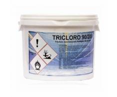 Cloro Pastiglie 200 gr Tricloro 90% Lenta Dissoluzione Secchio 5 Kg Top Quality - ARAL SRL