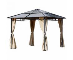Gazebo Da Giardino In Acciaio Con Tende Laterali 3x3m Adami Maine