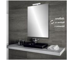 Olimpia - specchio reversibile da bagno filo lucido 60x80 cm con lampada led 5w - BATHMAN