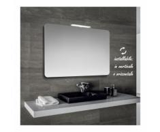 Klara - specchio reversibile da bagno filo lucido sagomato con angoli stondati 90x60 cm con lampada