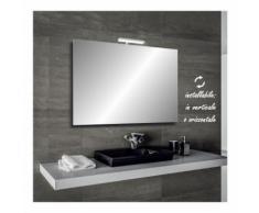 Irina - specchio reversibile da bagno filo lucido 90x60 cm con lampada led 5w - BATHMAN