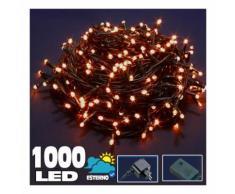 Catena Luminosa 1000 LED Luci Albero Natale Lucciole Bianco Caldo Esterno 24V - BAKAJI