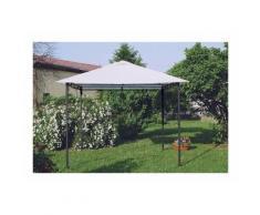 Gazebo 3x3 metri giardino acciaio antivento STYLE - PRODUCESHOP