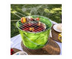 Barbecue Griglia Grill Carbonella Bucket da Tavolo Diametro 29cm x 37cm Altezza - BBQ COLLECTION