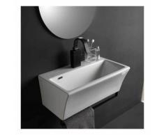 Lavabo in ceramica per installazione sospesa 60x35 utile per bagni piccoli Xilon Block : Bordo