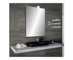 Zara - specchio reversibile da bagno filo lucido 60x80 cm con lampada alogena 25w - BATHMAN