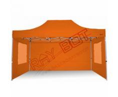 Gazebo Pieghevole 3x4,5 Arancione RAY BOT CON FINESTRE