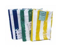 Tenda da sole in cotone telato 140x290 cm colore: Bianco/Blu - EAC