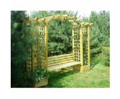 Evergreen Pergola ad arco tondo + panchina + fioriere 210x350x72 EG51769