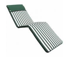 Cuscino per lettino sfoderabile impermeabile esterno VERDE A STRISCE CU805681 - BRICOBRAVO