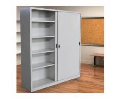 Armadio in Metallo Ufficio per Archiviazione ad Ante Scorrevoli Dim. 180x45x250h - FLEDA TRADING