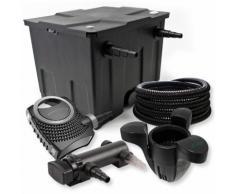 1-Camera Set per il filtro 12000l 18W UVC Depuratore per stagni Tubo Fontana - WILTEC