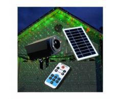 Proiettore Luce Laser Led Natale Facciata CHRISTMAS con Pannello Solare - SUPERNOVA