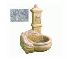 FONTANA DA GIARDINO 'CAPRI' esterno giardino senza rubinetto cm 60 x 51 x h 90 colore stone - DFL