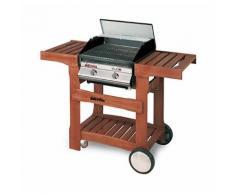 Barbecue a gas due fuochi con valvola di sicurezza - DOLCEVITA