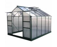 Serra da giardino in policarbonato DAHLIA Verde Abete 7,67 m² - HABITAT ET JARDIN