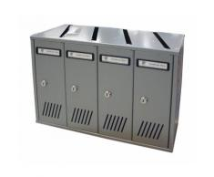 Cassette Postali Silmec 6 Elementi 31706 Silver per Interni 67x23x33H cm