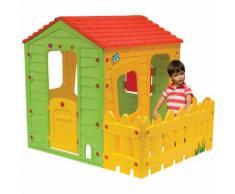 Casetta bambini in PVC STALLETTA - 1.18 x 1.46 x 1.27 m - HABITAT ET JARDIN