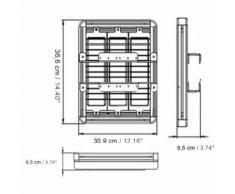 Faro LED grande altezza di sospensione- 120 W - 376 mm ? 309 mm X 95 mm - 12000 lm - LIGHTENGIN