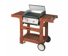 Barbecue a gas con carrello in legno - DOLCEVITA