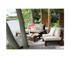 SET DA GIARDINO MOD NEVADA DELLA KETER CHAISE LONGUE MARRONE IN RESINA - ALLIBERT