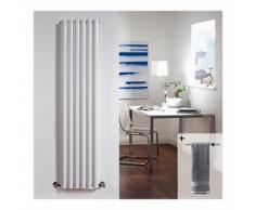 Radiatore di Design Verticale con Porta Salviette - Acciaio - Revive Bianco - 1.014 Watt - 1600mm x