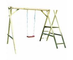 Parco giochi Mikolaj in legno di pino L370xH220cm bambino giardino esterno 67049 - BRICOBRAVO