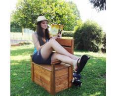 Cassapanca MATEJ con schienale +poggioli legno impregnato 70x40x95 cm - Onlywood