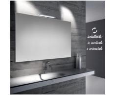 Emma - specchio reversibile da bagno filo lucido 100x70 cm con lampada led 5w - BATHMAN