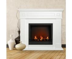 Divina Fire Biocamino in legno CAMBRIDGE BASIC Bianco