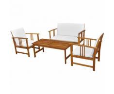 vidaXL Set da giardino in legno di acacia 6 pezzi