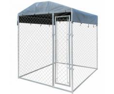 Cuccia del cane da esterno resistente con tettoia 200 x 200 x 235 cm - VIDAXL